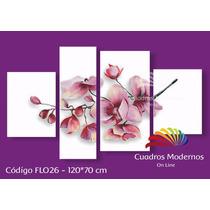 Cuadros Modernos, Polipticos Florales Hecho A Mano 130*70cm