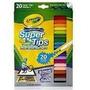 Crayola Super Tips Marcadores Lavables Dibujan Fino O Grueso