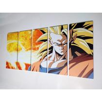 Dragon Ball Z- Goku / Cuadro De 5 Piezas (1.53m X70cm)