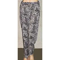 Babucha Pantalon Fibrana Animal Print Amplio Talles Grandes