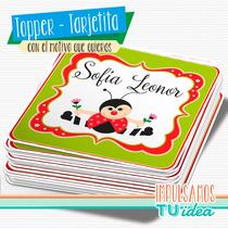 Vaquita De San Antonio - Topper Cuadrado Para Imprimir