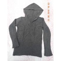 Pullover C/capucha De Mujer T 44