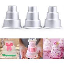 Molde Para Mini Torta De 3 Pisos Mini Bizcochuelo Reposteria