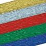 10hojas Papel Crepe Metalizado 50cmx2metros Papeles Creppes
