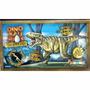 Dinosaurios Maqueta Para Armar Mdf Autoadhesivas Tiranosauri