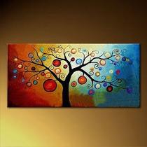 Cuadros Flores Texturados Pintados A Mano - Kandinsky