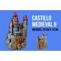 Castillo Medieval De Resina Grande 28cm X 19cm Para Peceras