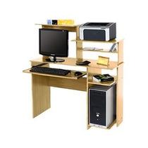 Mesa Pc Oficina Platinum 9017 Roble Impresora Scanner