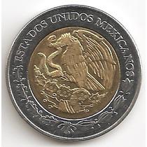 Mexico, 2 Pesos, 2007. Bimetalica. Brillante Sin Circular