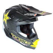 Casco Motocross Just 1 Rockstar Motoscba