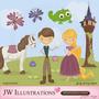 Kit Imprimible Enredados Rapunzel 4 Imagenes Clipart