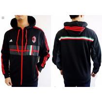 Campera Adidas Fútbol Con Capucha Ac Milan
