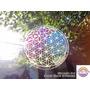 Mandala En Vidrio Flor De La Vida Colgante Movil Vitral