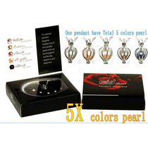 5 Perlas De Cultivo 5 Colores Dije Y Gargantill Super Especi
