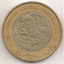 Mexico, 10 Pesos, 1998. Bimetalica. Vf
