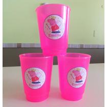 Vasos Plásticos Peppa Souvenirs Personalizados X 10 Unid.