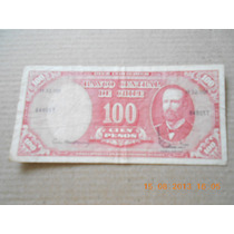 Billete 100 Pesos 10 Centesimos De Escudo Chile