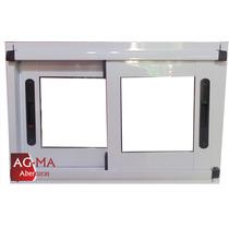 Aberturas Ventana Aluminio Modena Vidrio Entero 60 X 40 Agma