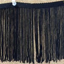 Fleco De Rayon De 12cm Color Negro X 20m, Para Indumentaria