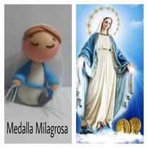 Souvenir Virgencita Porfis Cuidame Tulirita Porcela Fría