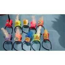 Sombreros Cotillon. Mini Galeritas Vinchas X 10 U.