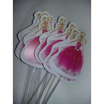 Toppers Para Cupcake Barbie Moda Paris Candy Bar Cotillón