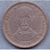 Republica Dominicana 1/2 Peso 1976 * Juan Pablo Duarte *