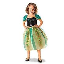 Vestido Disfraz Anna Frozen Original Disney Store T 5/6 Años