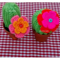 Cactus Tejidos Al Crochet - Souvenirs - Adorno Maceta Num 8