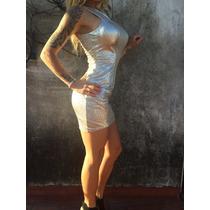 Nuevo Vestido Oro Y Plata De Miami ( Guess)