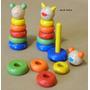 Ensartado Animalito Color Madera Material Didáctico
