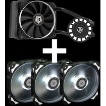 Kit Refrigeracion Water Cooling + 3 Coolers 120mm Fan Gamer