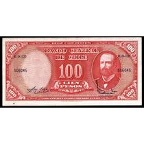 Chile 100 Pesos Resellado 10 Centesimos 1960 Sin Circular