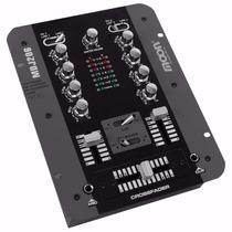 Mixer Dj Moon Mdj206 2 Canales Y Mic - Consola Mezclador Mp3