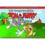 Kit Imprimible Tom Y Jerry, Mini Candy Bar, Tarjetitas, Coti