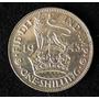 Moneda De Plata. 1 Shilling. Gran Bretaña. Jorge Vi. 1943.