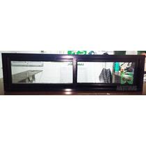 Ventana Aluminio Negro Entero 150x40 Puertas Aberturas