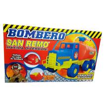 Camion Bombero Lanza Agua De 60cm Gigante C/ Casco De Regalo