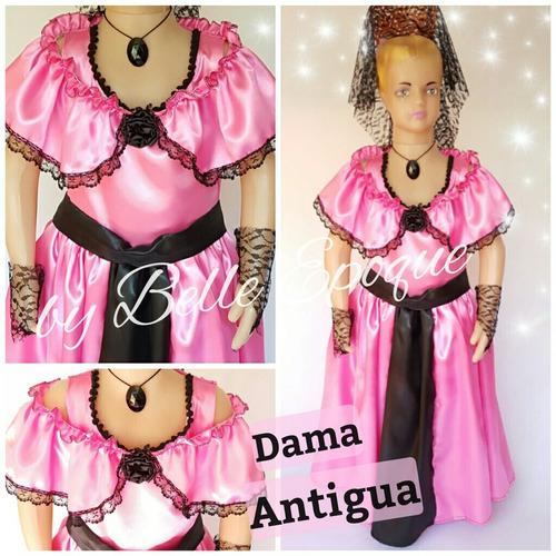 1b9b94037 Disfraz De Dama Antigua Para Niñas - $ 654 en Melinterest