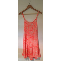 Vestido Solero Verano Fluo Naranja Espalda Cruzada- Materia