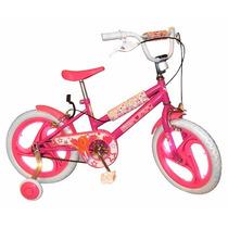 Bicicleta Rodado 16 Barbie Nena Original Con Licencia Orig