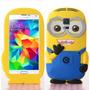 Funda Silicona 3d Minions Samsung Galaxy S5 + Film Protector