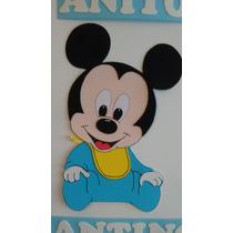 Cartel De Mickey En Goma Eva
