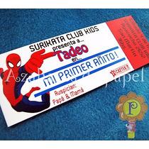 Spiderman Hombre Araña Invitaciones Tarjetas Cumpleaños