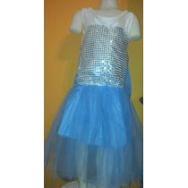 Disfraz Elsa Frozen Con Capa Y Trenza