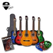 Guitarra Criolla Niño Mediana Y Chica +funda+puafender+libro