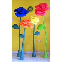 Flores Gigantes De Papel. Excelente Ambientación!