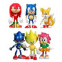Sonic The Hedgehog Set X6 Figuras Original Team Sega Torta