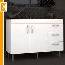 Bajo Mesada 120cm Cocina 3 Puertas Diseño Moderno Oferta!!!!
