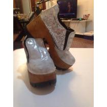 Zapatos Con Plataforma Alta.